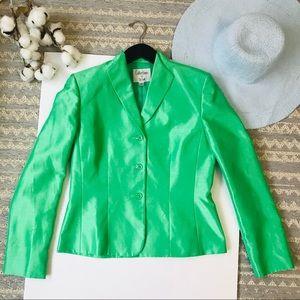 Gorgeous LE SUIT Green 3-Button Suit Jacket